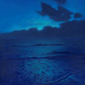 Out of the Blue. Oil on board. By Mark Harrison.