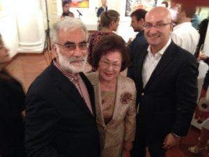 The artist, Mrs. Jeannie Tien and George Kypraios