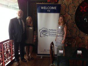 John Faraclas and Anny Zade with HBNA secretary eneral Eleni Deligianni