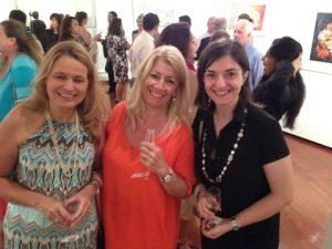 Eleni Deligianni, secretary general of HBNA, Anny Zade and Maria Makri from the Greek Honourary Consul office