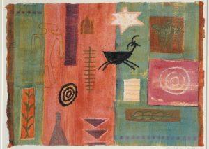 Silent Symbols. Gouache and watercolour on paper. By Caroline McAdam Clark