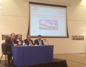The panel on an l to r: Prof. Panikkos Poutziouris, Dr. Loukas Glyptis, Haralambos J. Fafalios and George Mouskas