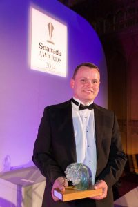 Seatrade Award: Trevor Solomon, Intersleek Business Manager pictured with the Award.