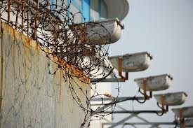 rusty razor wire - risk of injury and infection
