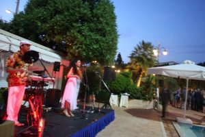 The live band