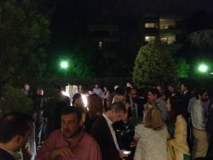 A view at the right side of BPCO's garden party...
