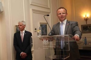 The British Ambassador John Kittmer and Sir Alan Massey