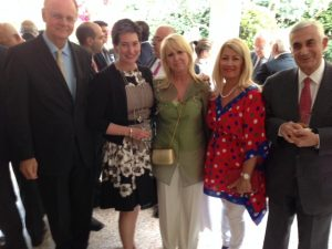 l to r: George Frowick, Virginia Bennett, Irene Ralli, Anny Zade and Themis Vokos