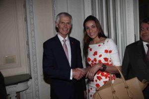 Sir Alan Massey with hte Panamanian Ambassadress in London Ana Irene Delgado