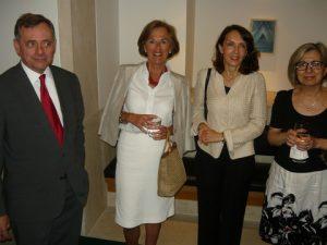 The Greek Ambassador Konstantinos Bikas, Mr. Chantal E. Mitropoulos, Mrs. Maria Bikas and Varvara Kambouridou – Educational Attaché at the Greek Emabssy