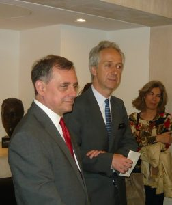 The Greek Ambassador Konstantinos Bikas and Roly Keating, the Chief Executive of the British Library