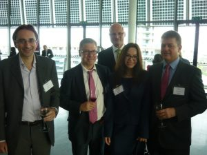 Nick Silver, Nicholas Themistocli from LBBW bank, Edyta M. Dorenbos from Tilburg University and Heiner Boehmer from Helaba