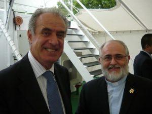 Adm Cristiano Alipetra, Italy's Representative to teh IMO with Fr. Bruno Cicere AoS at The Vatican