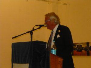 Sir David Dain introducing the event
