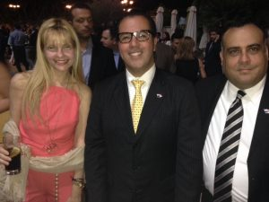 Mrs Taquis de Valetopulos, the Ambassador of Panama and the debuty minister