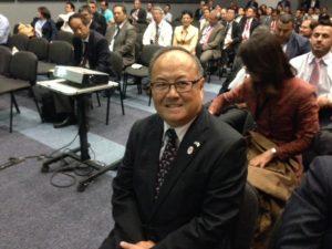 A happy and content  Japanese Ambassador Mr. Masuo Nishibayashi at the end of the presentations