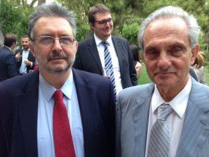 Prof. Sotiris Theofanis with Captain Christos Georgantzoglou
