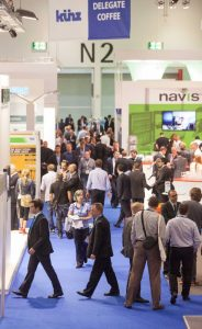 A view at the exhibition hall at London's ExCel