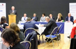 Chris Evans speaking at the wista-uk forum