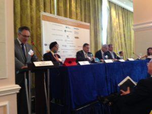 Moderator Gust Biesbroeck, Amrit Singh, Spyros Capralos, Aristeides Pittas and Polys Hajioannou