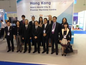 Members of the Hong Kong maritime cluster with the minister Anthony Cheung