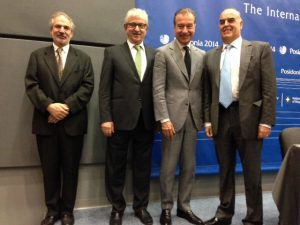 All smiles over Greek shipping prospects; the men leading a successful Greek Shipowners Union