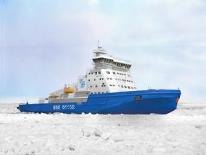 he new icebreaker built by Arctech Helsinki Shipyard for the Finnish Transport Agency