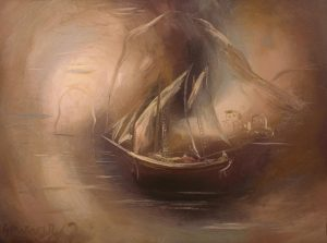 Boat at Sozopoli. 1930. By G. Gounaropoulos. Museum G. Gounaropoulos.