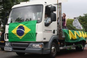 Sutton Sea Cadets' Brazil-themed float takes to the road