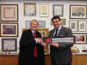 Omiros Sarkias receiving his honour