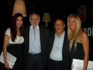 With Allied's Captain Costas Karademas (thord from the left) and the Akrotiri hostesses