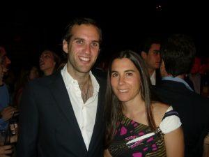 Smilling guests Alexander A. Tsavliris and his cousin Claire N. Tsavliris