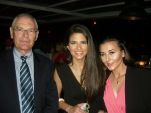 Allied's Captain Stavros Drakogiannopoulos with smiling guests