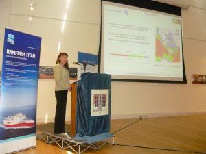 Veronique Carayon delivering her speech