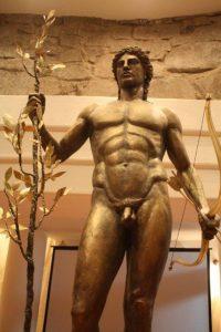 Statue of Apollo completed 2011 by Boris Borisov for Sozopol Foundation museum