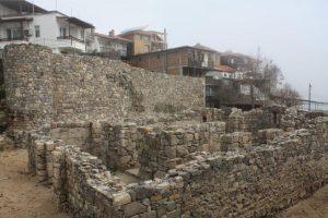 Archaeological work on ruins of St Nicholas church, Sozopol.