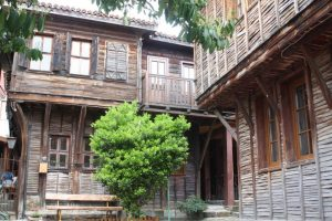 Charming 19th century houses in Sozopol.