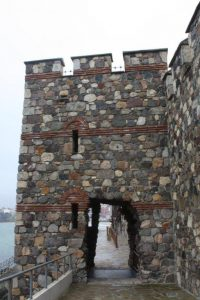 Restored fortress tower, Sozopol.