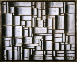 Construction in White and Black, 1938. Oil on paper mounted on wood. By Joaquin Torres-Garcia. The Museum of Modern Art, New York. Gift of Patricia Phelps de Cisneros in honour of David Rockefeller, 2004. Photo Coleccion Patricia Phelps de Cisneros.