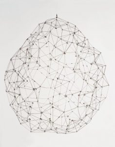 Sphere, 1976. Stainless steel. By Gego (Gertrude Goldschmidt). Coleccion Patricia Phelps de Cisneros. c Fundacion Gego.