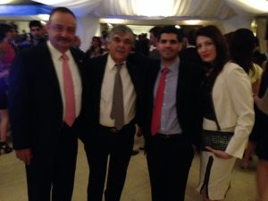 Didier Bouttier, Lambros Chahalis with Jason Therapiotis and his wife