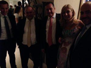smilling faces with Petros Pappas, Spyros Kapralos, Paillete Paleoologou..