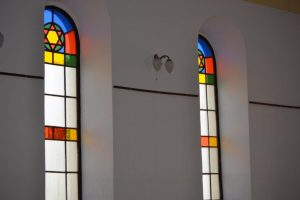 Windows of Gallery of Nations converted synagogue. Photo courtesy of www.visitkosiceregion.com