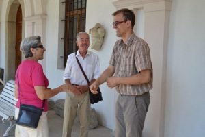 Museum director Maroš Demko meets our team. Photo courtesy of www. visitkosiceregion.com