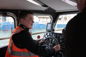 Mountbatten School pupil takes to the sea.  Photo by Andy Jones.