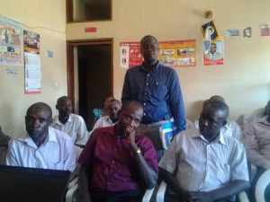 Entebbe airport drivers and conductors', Uganda/inland transport