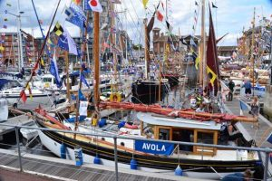 Visitors to the Maritime Festival enjoy the best dressed vessels at ABP's Ipswich Haven Marina