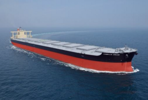 Bulk carrier of the type featuring the NSafe®-Hull