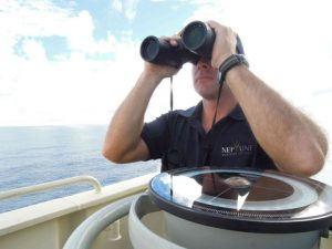 Neptune Maritime Security operative scans the horizon for threat