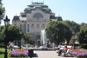 Summer scene in Košice city centre.